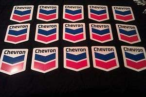 Huge Lot of Chevron racing stickers, oilfield sticker, Chevron racing
