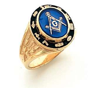 Cipher Blue Lodge Ring   Vermeil/Yellow Gold Filled