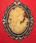antique gold pendant victorian bride mocha cameo 22 chain you