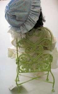 Sherry Goshon OOAK Artist Doll Cloth Girl With Rag Doll