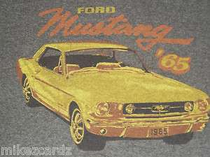 1965 FORD MUSTANG MENS RINGER T SHIRT L LARGE MINTY+