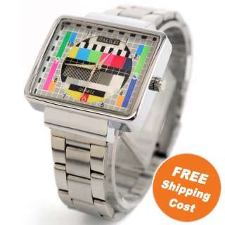 RESOLUTION DISPLAY RECTANGLE SILVER COLOR QUARTZ WATCH