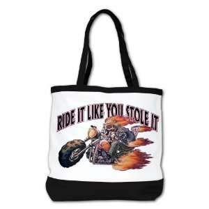Shoulder Bag Purse (2 Sided) Black Ride It Like You Stole
