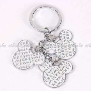 Mickey Mouse Head Shaped Key Chain Ring Keychain 2MV8