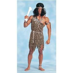 Adult Cheetah Print Jungle Man Costume (Necklace, Bone