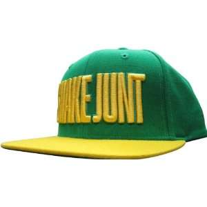 Shake Junt Mainline Hat Green/Yellow Snap Back: Sports
