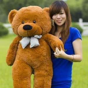 Super Cute Giant Plush Toy Teddy Bear 47 Dark Brown Toys