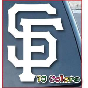 SF Giants Car Window Vinyl Decal Sticker 4 Tall (Color