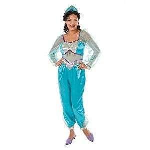 DISNEY PRINCESS JASMINE COSTUME CROWN GENIE ALADDIN LG