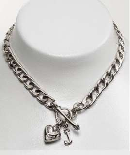 Auth Juicy Couture Silver Starter Charm Necklace