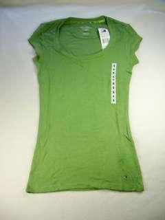 NEW Tommy Hilfiger Womens Green Scoop neck shirt