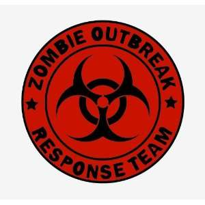 Zombie outbreak response team red sticker Vinyl Decal 5 x 5