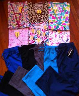 Scrub Tops and Pants, Make Your Own Set Sizes XS, S, M, L, XL, 2XL