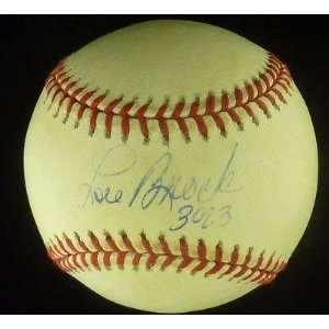 Lou Brock Signed Baseball JSA COA HOF Cubs Cardinals