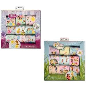2 BOXES Disney Princess Sticker Roll Box and Tinkerbell