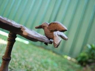 Cast Iron Rustic Bird Feeder Leaf N Bird