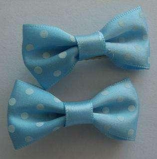 10 pairs of cute dot girls baby hair bow clip
