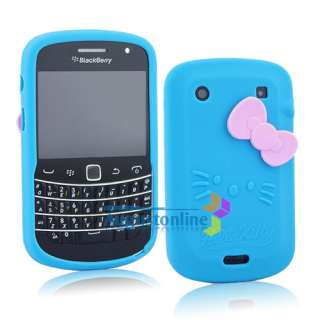Cute Hello Kitty Silicone soft Case Cover For Blackberry Bold 9900