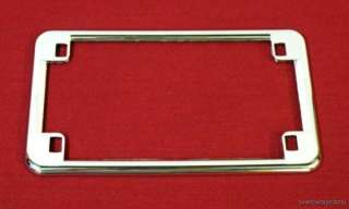 CHROME LICENSE PLATE FRAME BRACKET TRIM FITS HARLEY