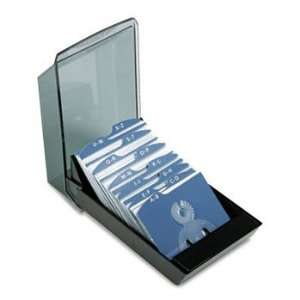 Rolodex 67208   Covered Tray Business Card File Holds 200
