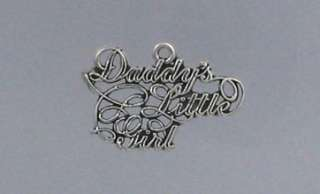 Sterling Silver Daddys Little Girl Charm, New