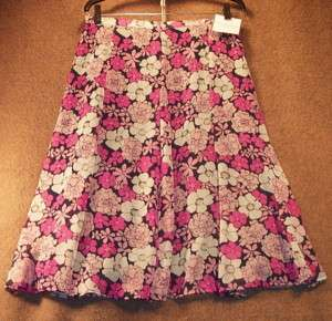 NWT Womens Size S Skirt Panel Sag Harbor Pink Lined