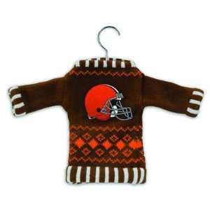 Cleveland Browns Knit Sweater Ornament (Set of 3) Sports