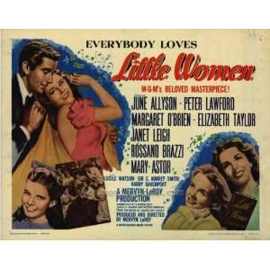 Little Women Poster Half Sheet 22x28 June Allyson Peter Lawford