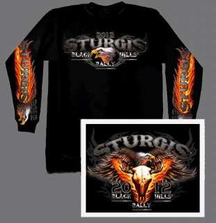 2012 STURGIS RALLY SCREAMIN EAGLE L/S BIKER SHIRT