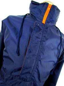 mens royal blue SPALDING athletic windbreaker pullover lightweight