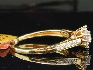 GOLD 0.25 CT ROUND DIAMOND ENGAGEMENT RING BRIDAL WEDDING BAND