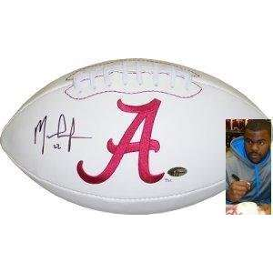 Mark Ingram signed Alabama Crimson Tide Logo Football