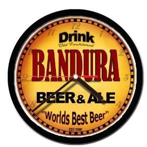 BANDURA beer and ale cerveza wall clock: Everything Else