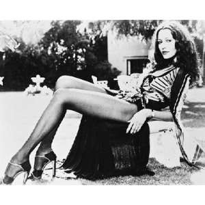 Barbara Carrera 12x16 B&W Photograph
