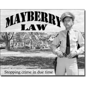 Barney Fife Mayberry Law Sign: Home & Kitchen