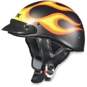 AFX FX 66 Beanie Flame Half Helmet XX Large  Black