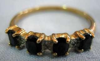 Vintage 9ct Gold, Diamond & Saphire Ring
