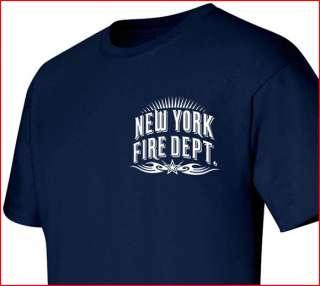 New York Fire Department T shirt Tribal M L XL 2XL 3XL 4XL   Short