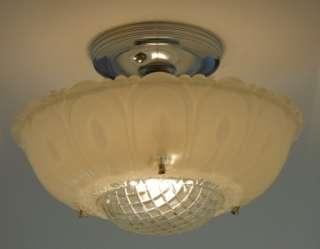 Vintage Art Deco Antique Chandelier, Ceiling light fixture lamp