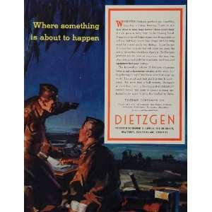1943 Ad WWII Dietzgen Engineering Equipment Servicemen