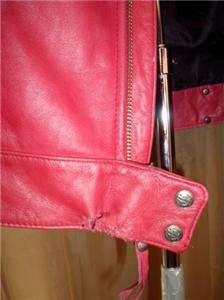 Harley Davidson Leather Jacket Red Ambition Medium 97058 08VW