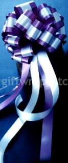 10 BIG PURPLE PULL BOWS WEDDING PEW RIBBON DECORATIONS