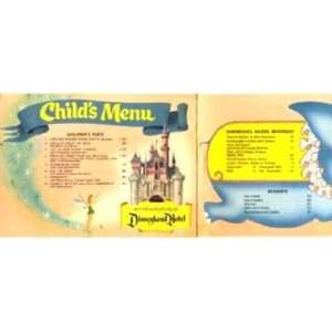 Disneyland Hotel Childs Menu / Mailer 1957 Dumbo