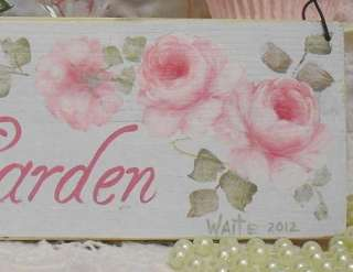 HP Chic Angel Garden Sign Sweet Shabby Romantic Cottage Country