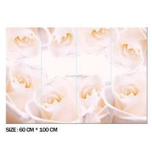 DIY Home Décor Pink Rose PVC Decal Sticker Pink