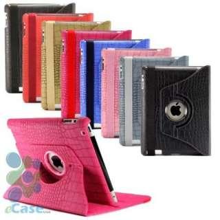 Leather Rotating Smart Cover Swivel Case iPad 2 Wholesale Lots 12 pcs