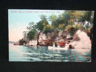Antique POSTCARD c1907 15 Needles Eye PUT IN BAY, OHIO