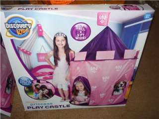 DISCOVERY KIDS PRINCESS PLAY CASTLE TENT NIB