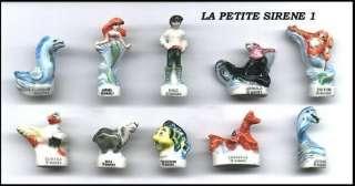 Disney ARIEL LITTLE MERMAID Set 10 PORCELAIN Figures