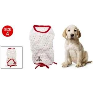 Como Size 4 Red Polka Dot Doggle Doggie Puppy Tee Shirt: Pet Supplies